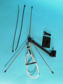 Antena GP Q LRS 433MHz  na maszt. Odbiornik.