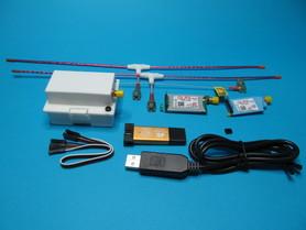 Kompletny uruchomiony zestaw systemu QLRS V3 z dwoma odbiornikami.