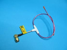 Antena LRS eleres MAX 433Mhz dipol 2,3mm wtyk kątowy SMA male orange rx